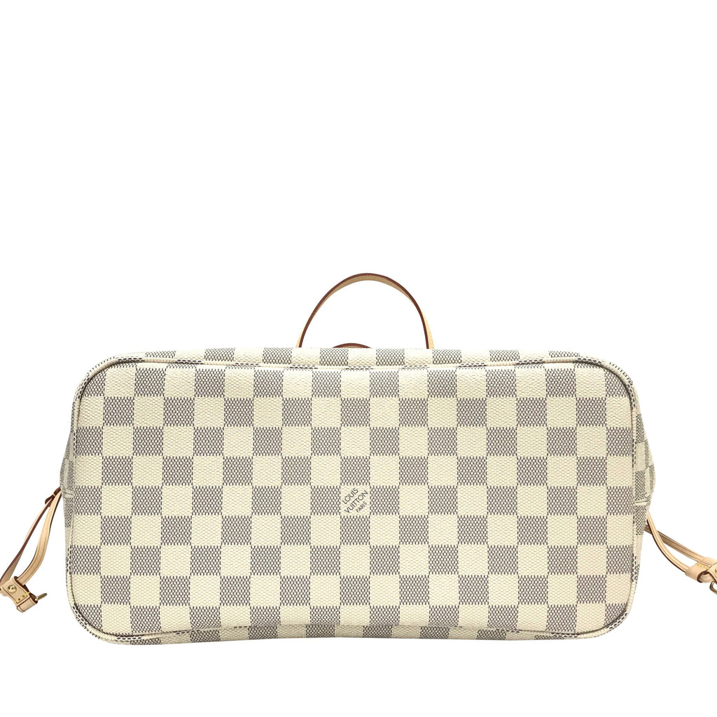 Louis Vuitton Damier Azur Neverfull MM with Pouch
