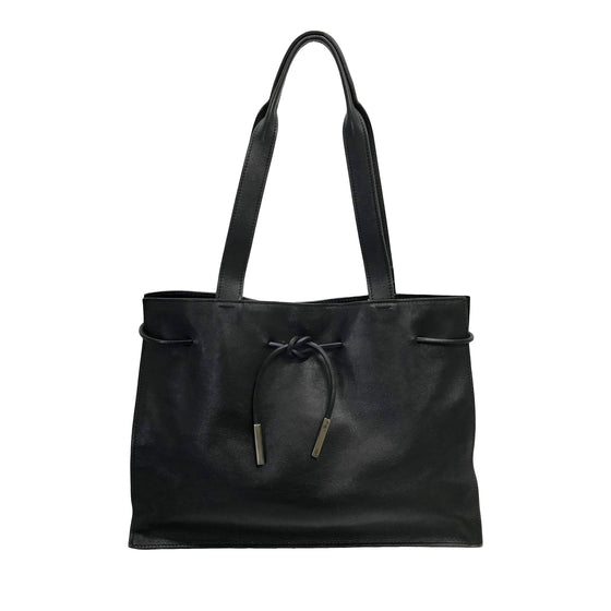 Gucci Leather Drawstring Tote