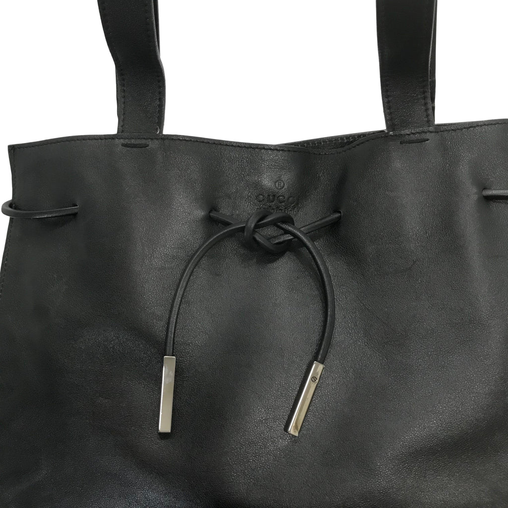 Gucci Leather Drawstring Tote Bags Gucci