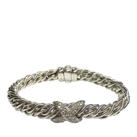 David Yurman Diamond X Wheat Chain Bracelet Bracelets David Yurman