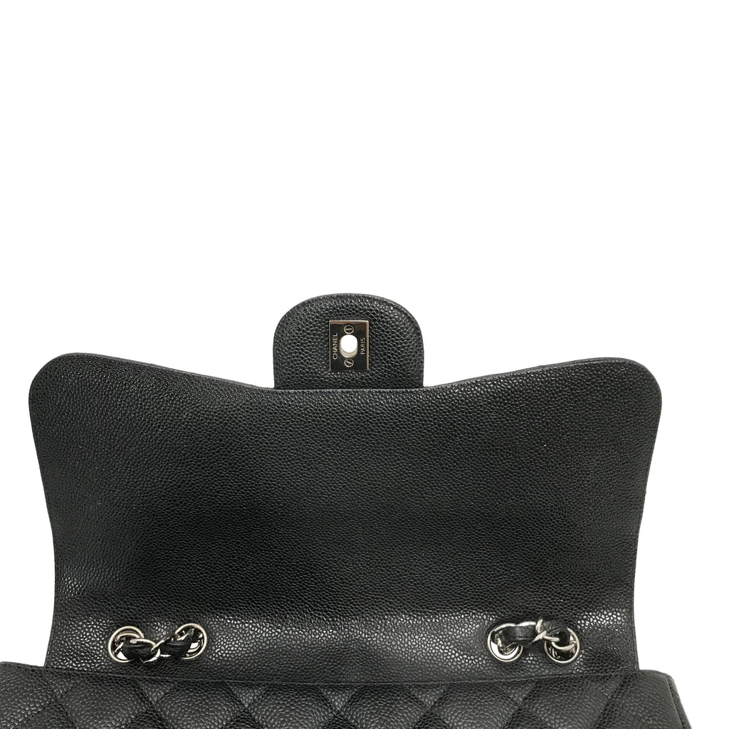 Chanel Black Caviar Classic Jumbo Single Flap Bag