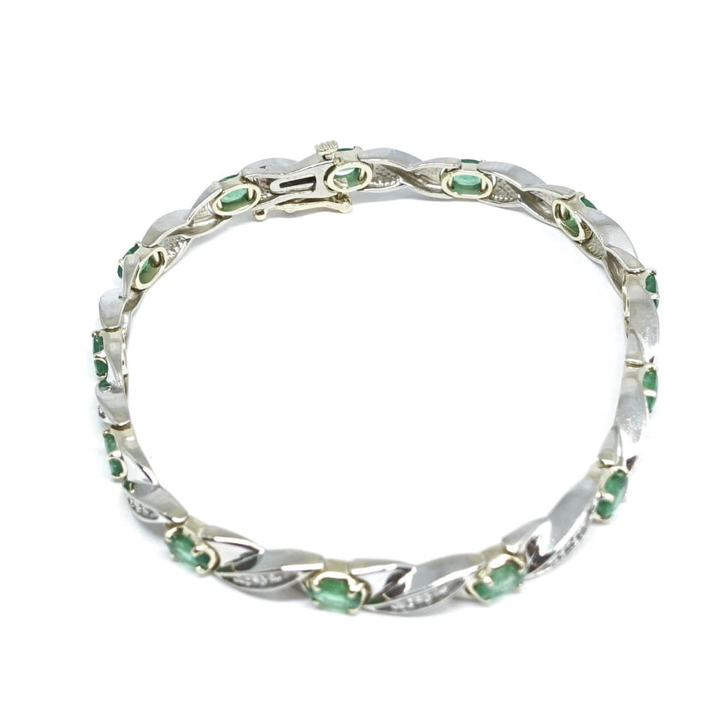 Emerald And Diamond Bracelet - Bracelets