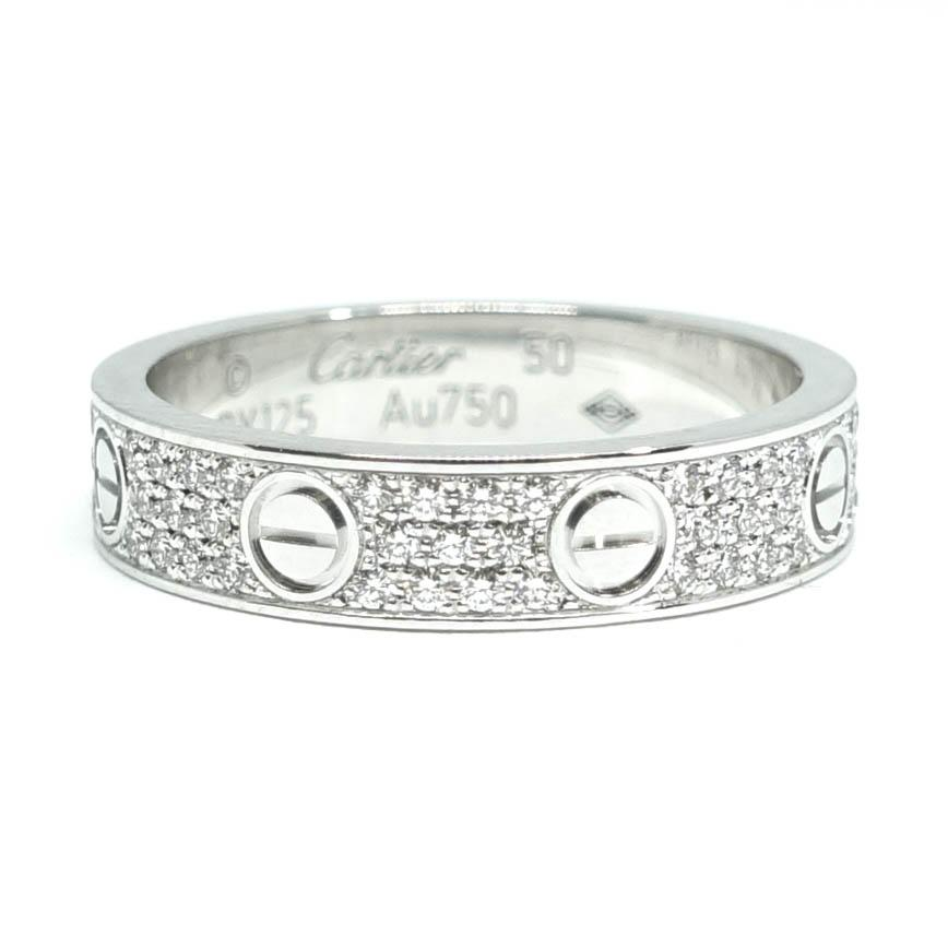 Cartier Pave Diamond Love Ring