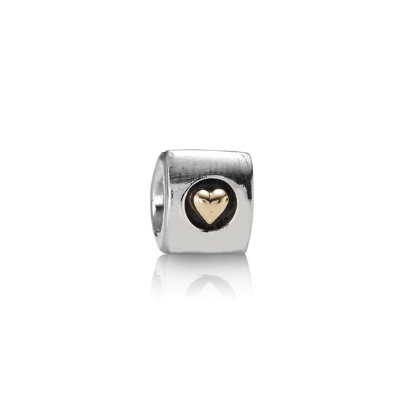 Pandora 2-Tone Heart of Gold Charm