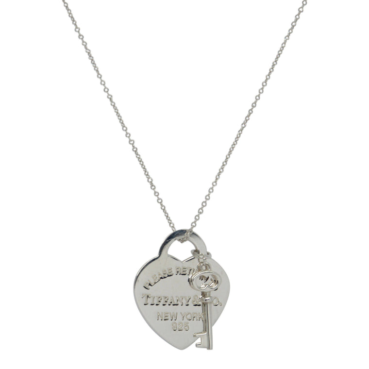 Tiffany & Co. Return to Tiffany Heart Tag with Key Pendant Necklace