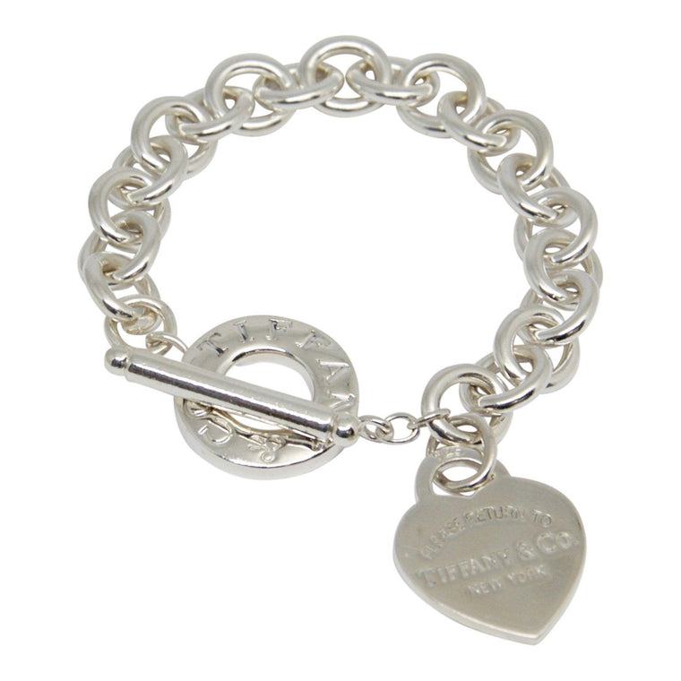 Tiffany & Co. Return to Tiffany Heart Tag Charm Bracelet with Toggle Clasp