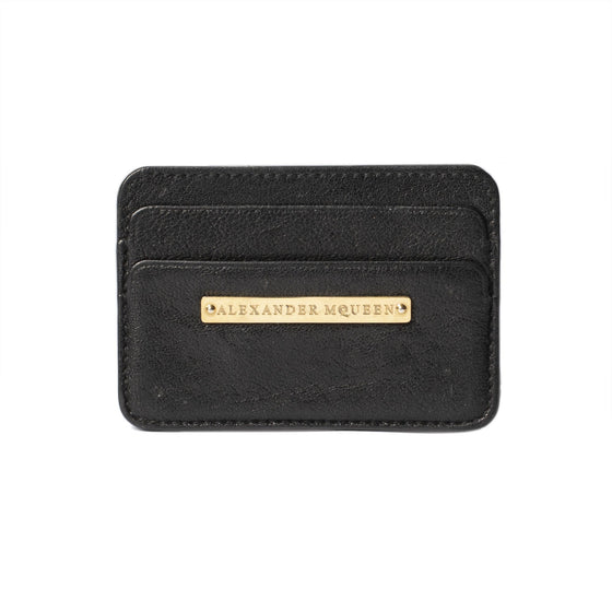 Alexander McQueen Leather Card Holder Wallets Alexander McQueen