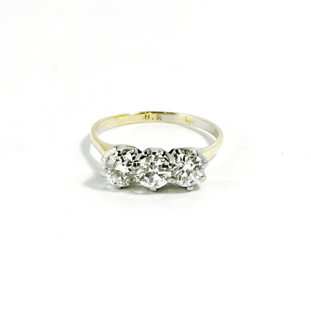 Antique 3 Stone Diamond Ring Rings Antiques