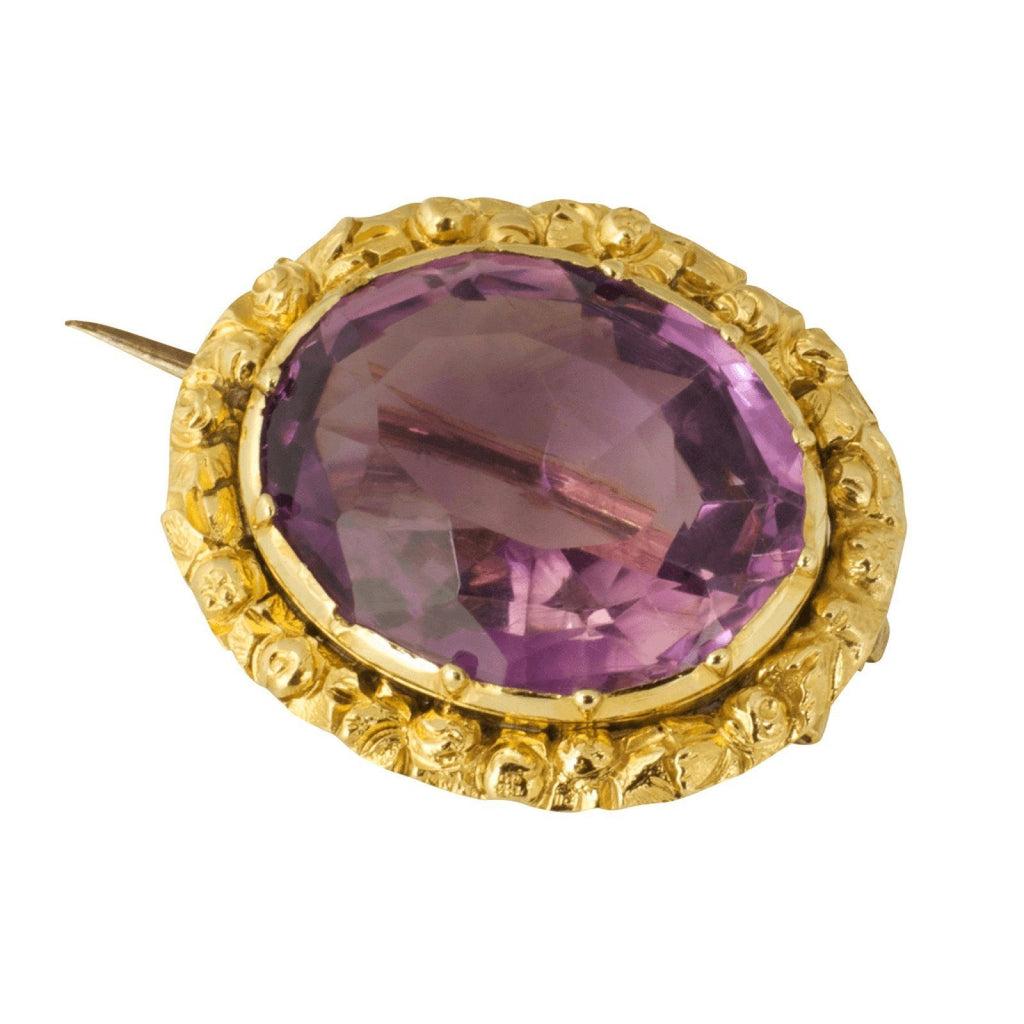 Antique Amethyst Brooch Brooches & Pins Antiques