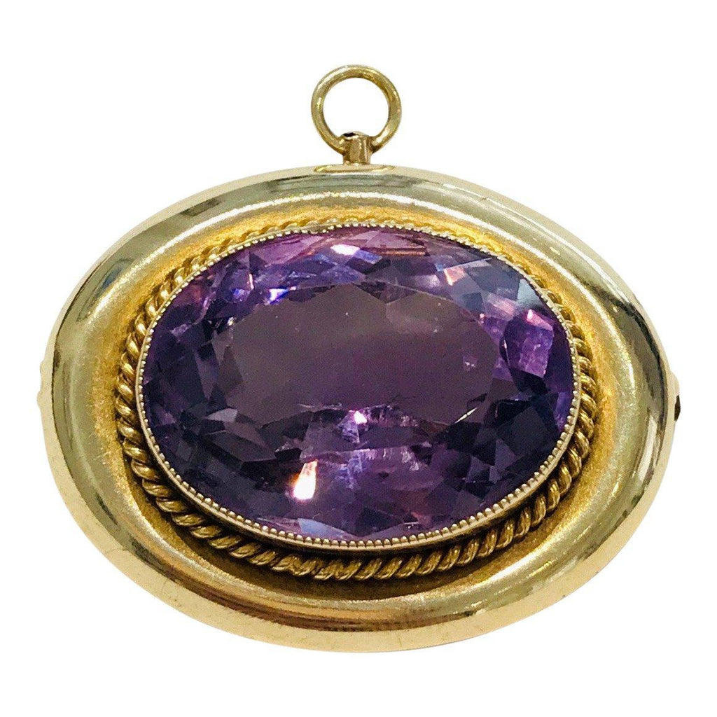 Antique Amethyst Brooch/Pendant Brooches & Pins Antiques
