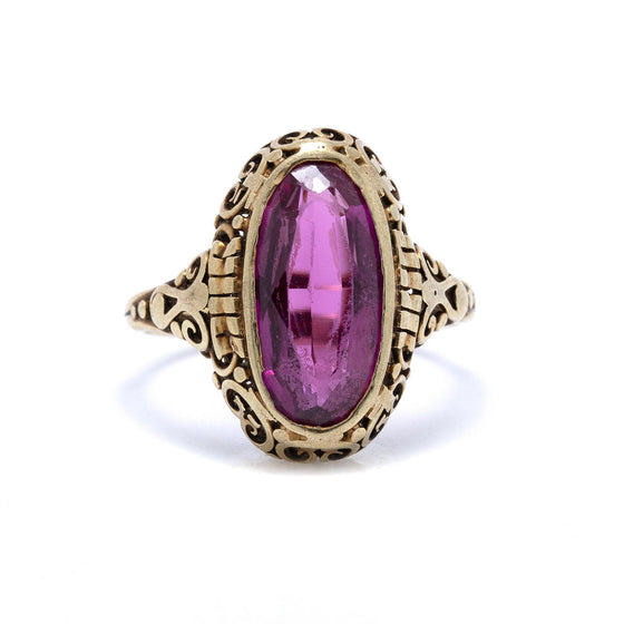 Antique Art Deco Pink Sapphire Ring Rings Antiques