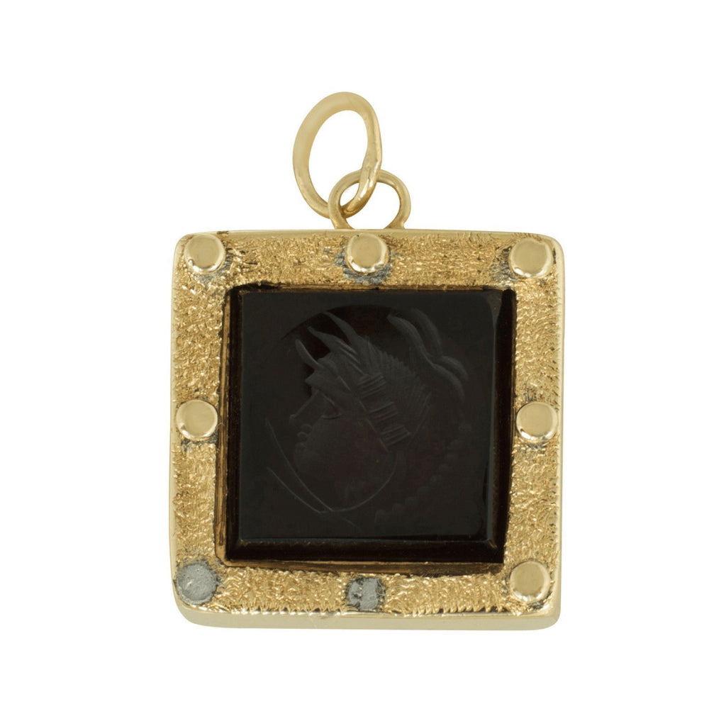 Antique Black Onyx Antaglio Pendant Charms & Pendants Antiques