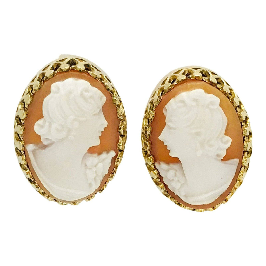 Antique Cameo Earrings - Earrings