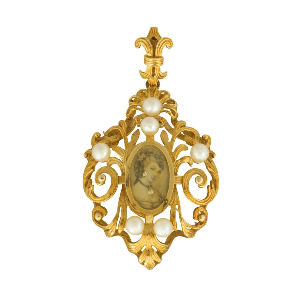 Antique Cameo Pendant - Charms & Pendants