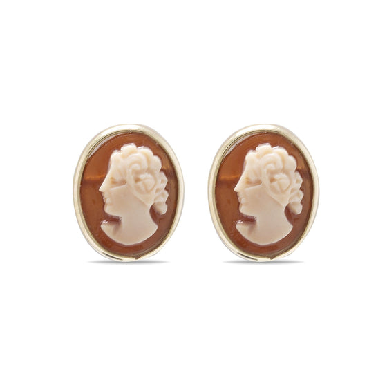 Antique Cameo Stud Earrings Earrings Antiques