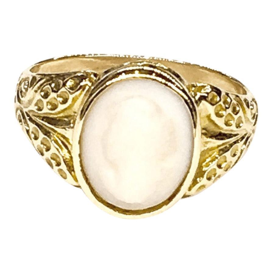 Antique Carved Cameo Ring Rings Antiques