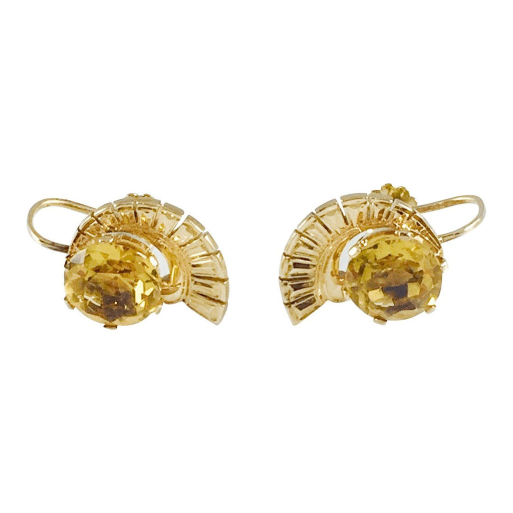 Antique Citrine Earrings Earrings Antiques