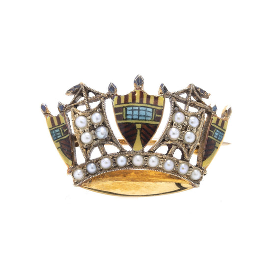 Antique Crown Brooch Brooches & Pins Antiques