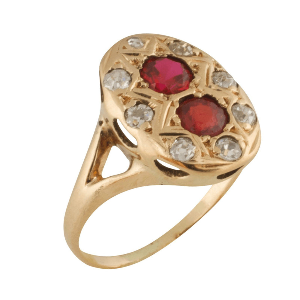 Antique Diamond and Ruby Ring Rings Antiques