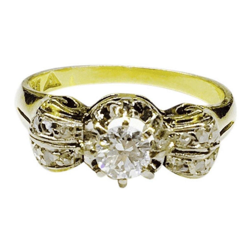 Antique Diamond Cluster Style Ring Rings Antiques