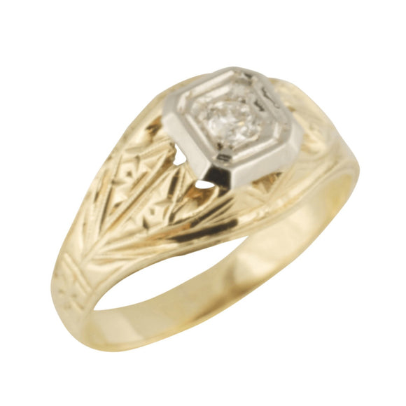 Antique Diamond Solitaire Ring - Rings