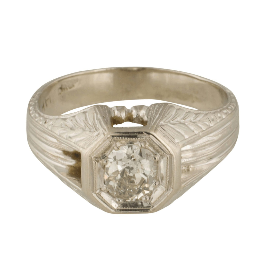 Antique Diamond Solitaire Ring Rings Antiques