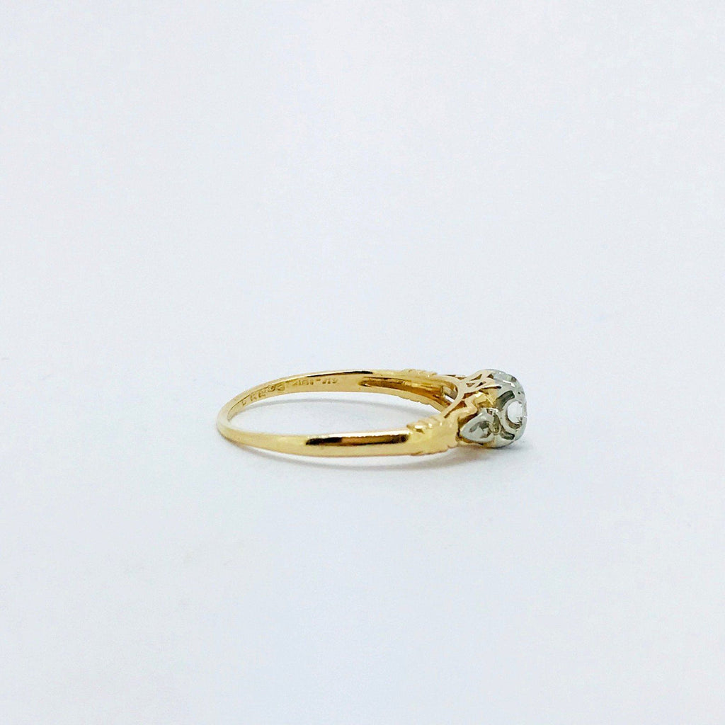 Antique Diamond Trio Ring - Rings