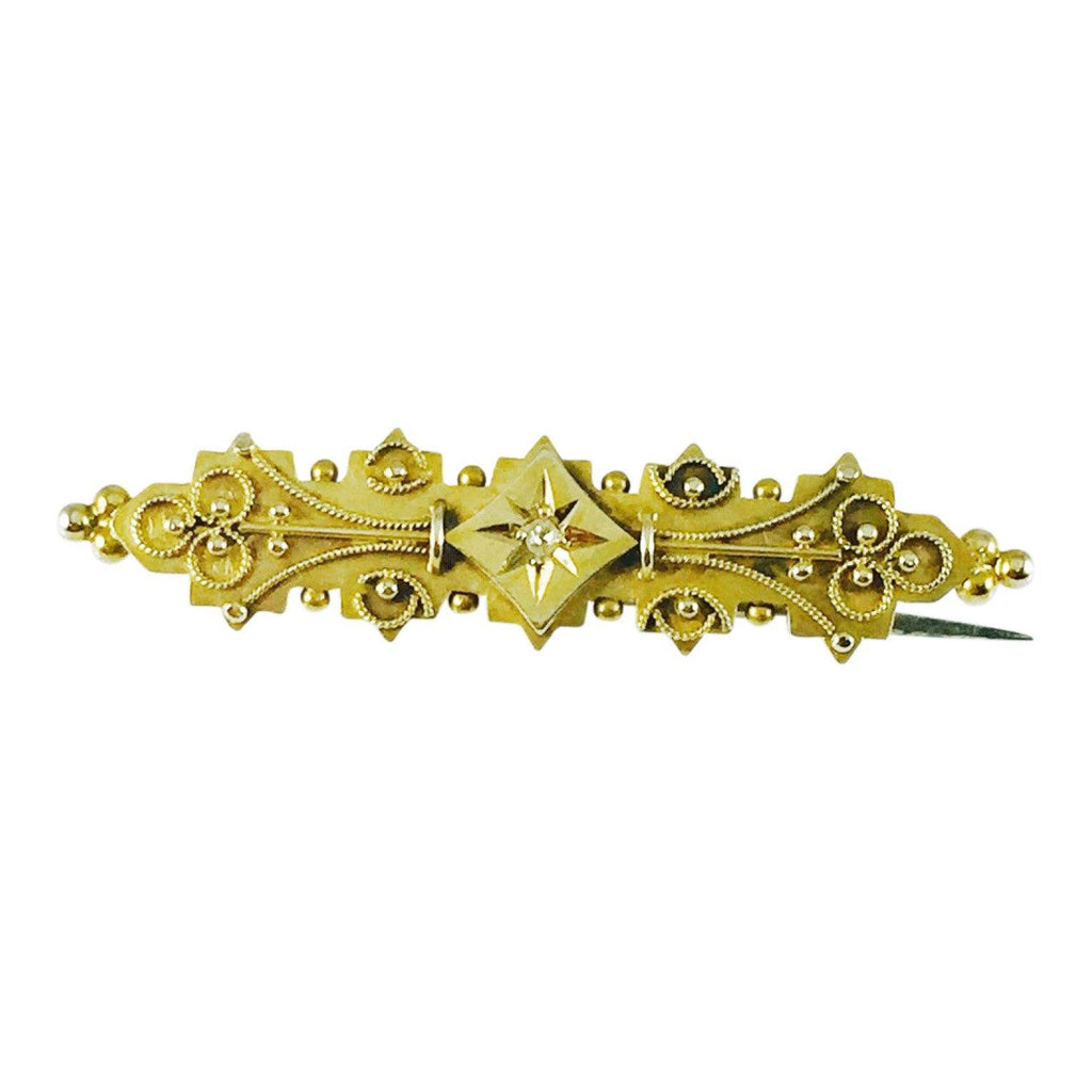 Antique Hand Assembled Bar Brooch Brooches & Pins Antiques