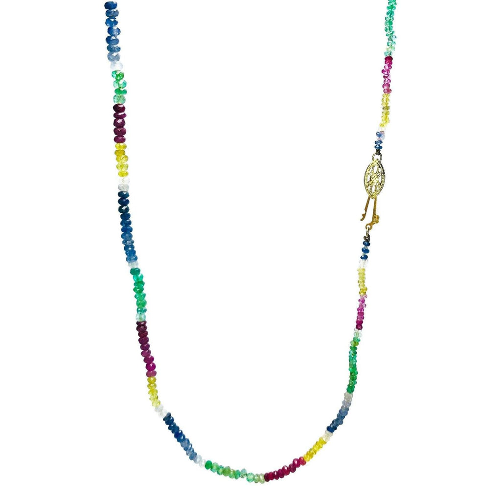 Antique Multi-Color Sapphire Necklace - Necklaces