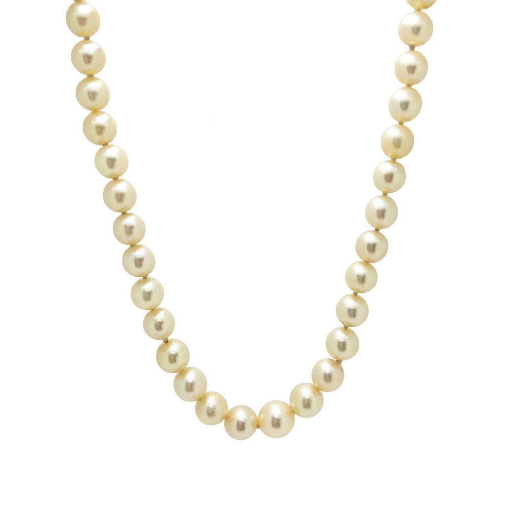 Antique Pearl Necklace - Necklaces