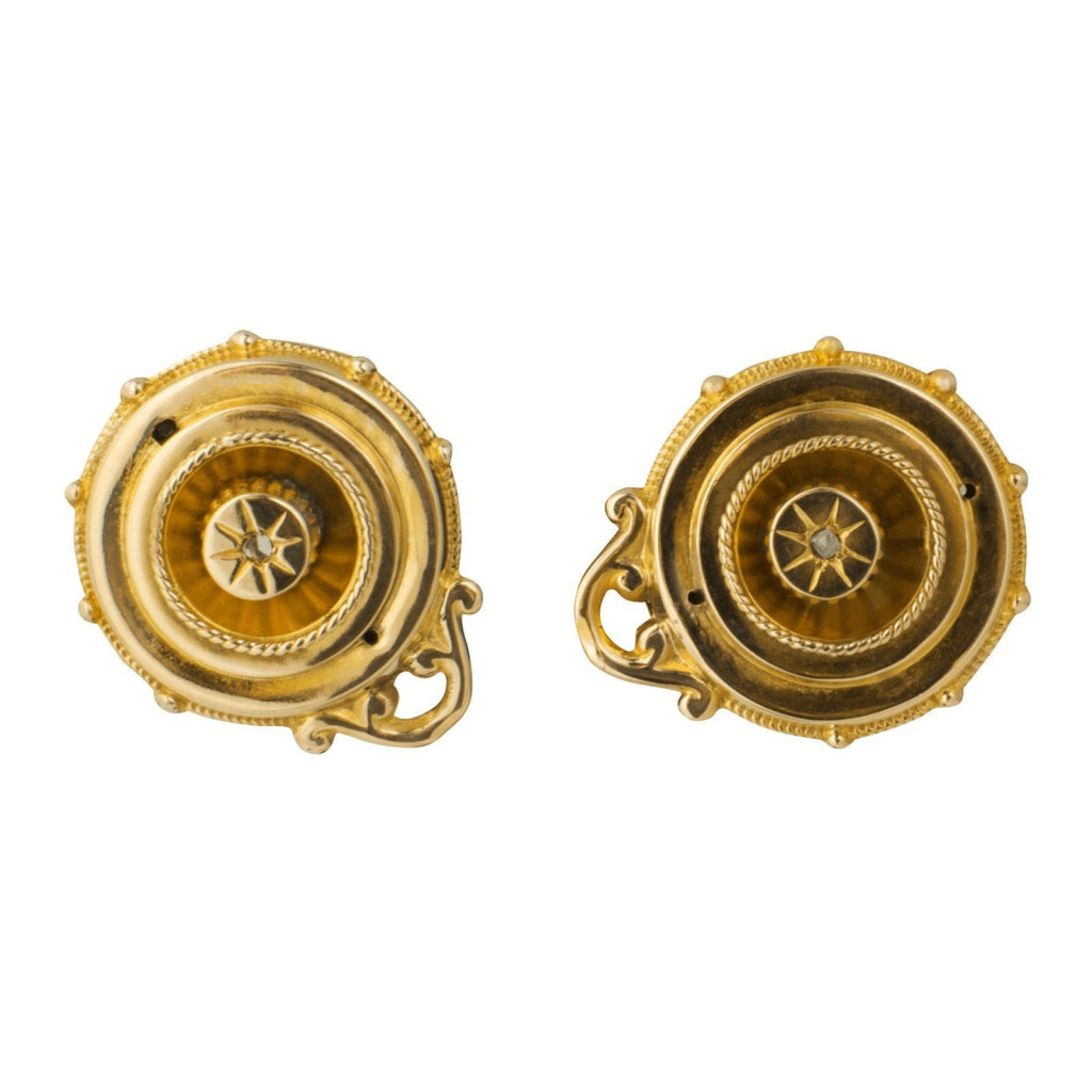 Antique Round Earrings Earrings Antiques