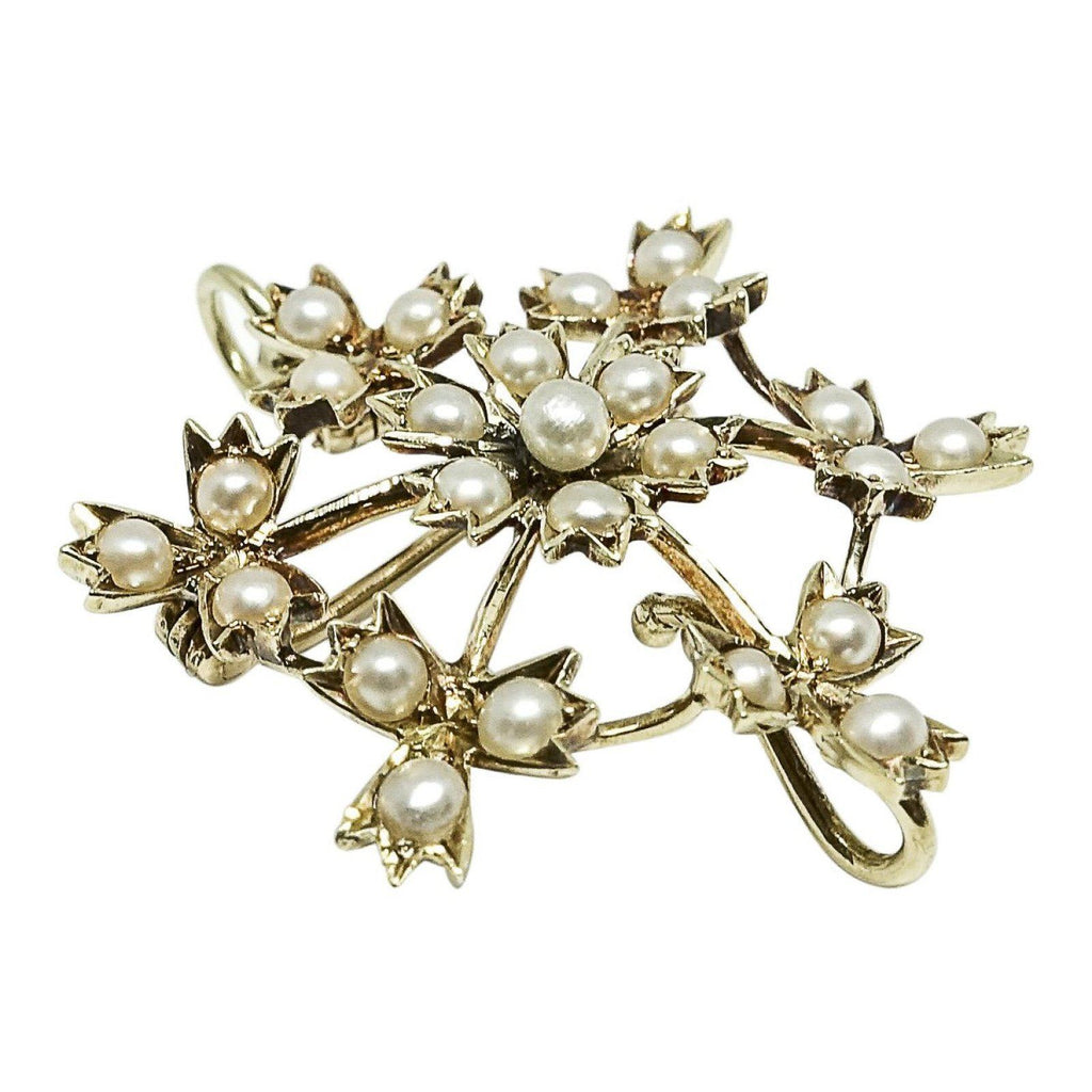 Antique Seed Pearl Brooch/pendant - Brooches & Pins