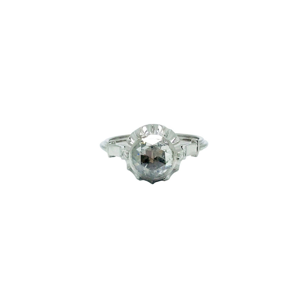 Antique Solitaire Diamond Ring - Rings