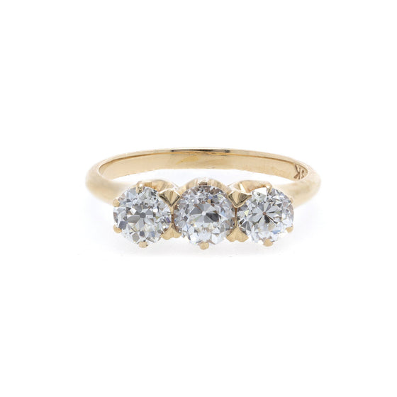 Antique Three Stone Diamond Ring Rings Antiques
