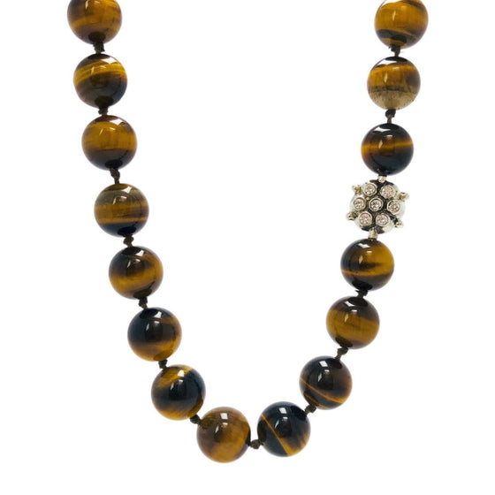 Anzie Tiger's Eye Bead Necklace Necklaces Anzie