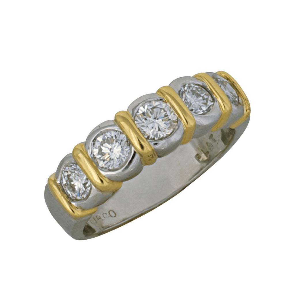 Bezel Set 5 Diamond Ring Rings Miscellaneous