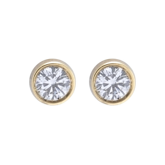 Bezel-Set Diamond Stud Earrings Earrings Miscellaneous