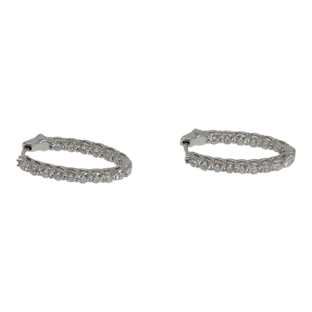 Birks Diamond Oval Hoop Earrings Earrings Birks