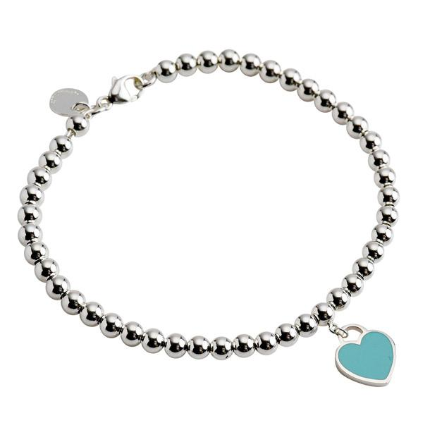 44c43fc25 Tiffany & Co. Return to Tiffany Mini Heart Tag Bead Bracelet with Blue  Enamel Bracelets ...