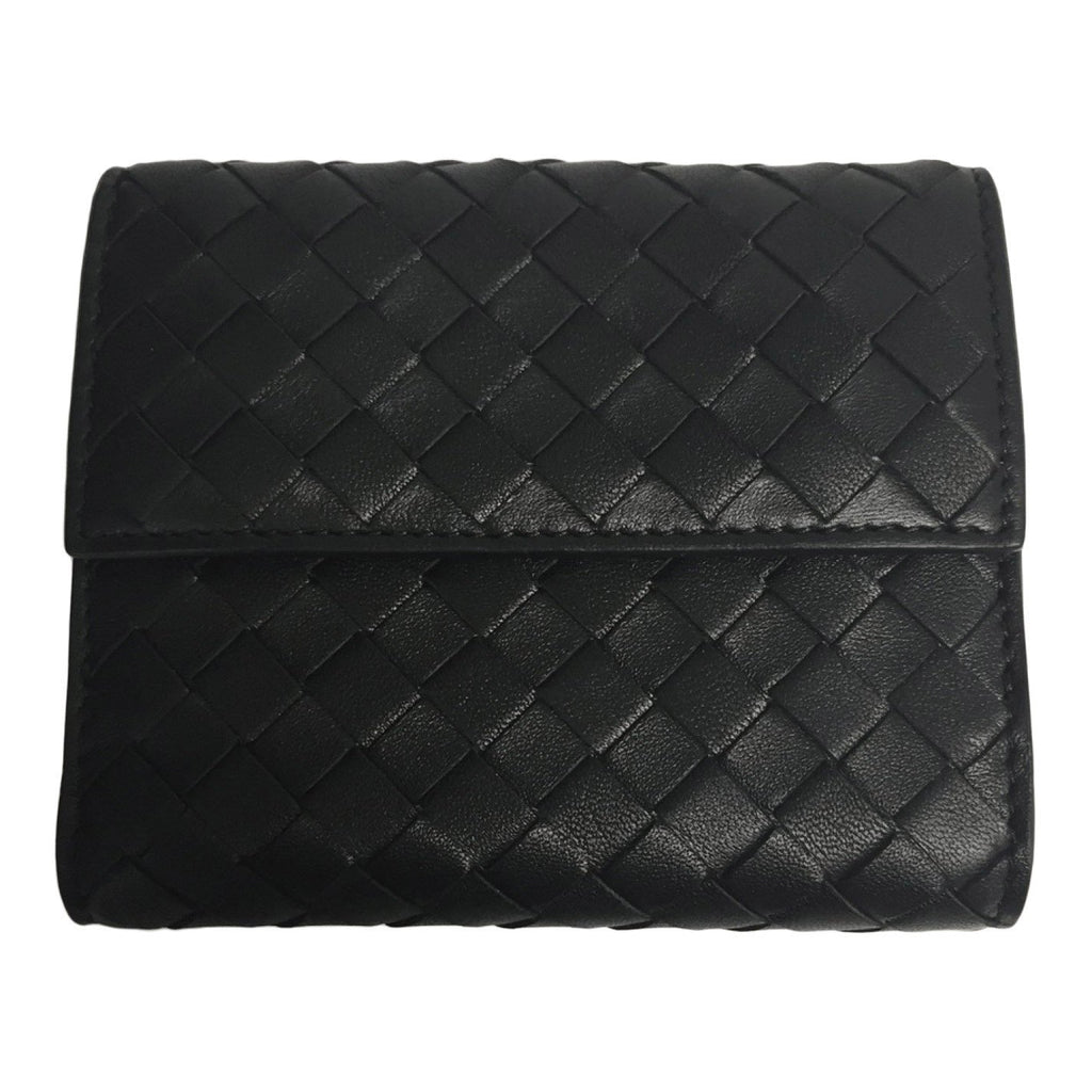 Bottega Black Small Flap Coin Wallet Wallets Bottega Veneta