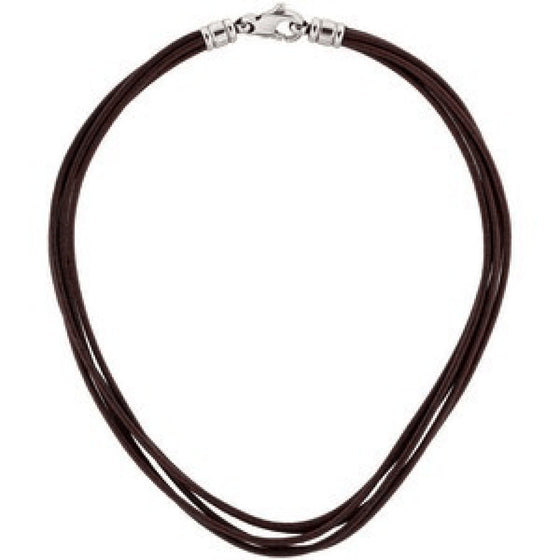 Bulgari 5-row Brown Leather Cord Necklace Necklaces Bulgari