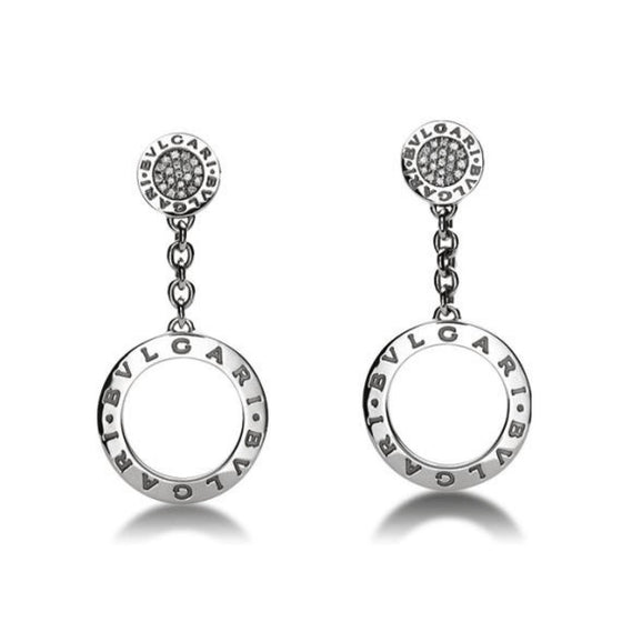 Bulgari Bulgari Diamond Drop Earrings Earrings Bulgari