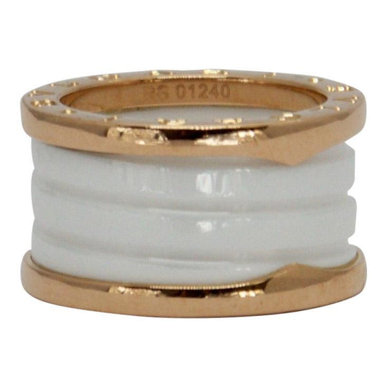 Bulgari B.Zero1 Four-Band Ring with Rose Gold and White Ceramic Rings Bulgari