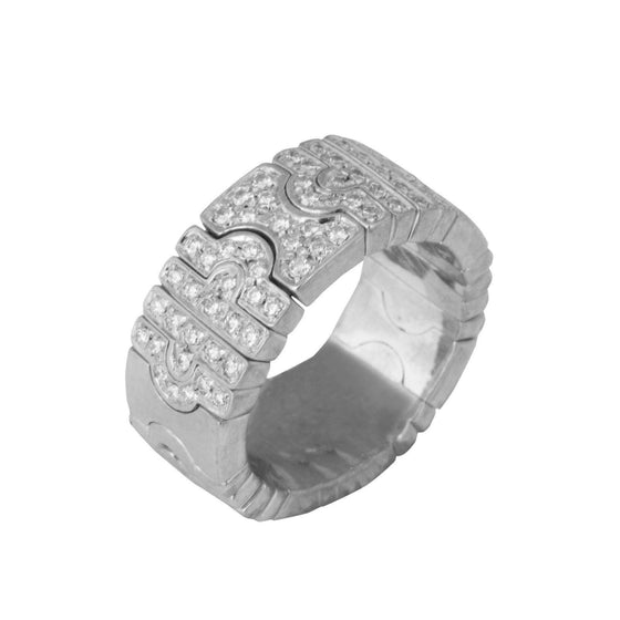 Bulgari Parentesi Pave Diamond Ring Rings Bulgari