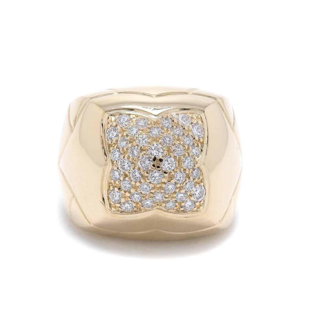 BVLGARI 18k Gold Diamond Pyramid Ring Rings Bulgari