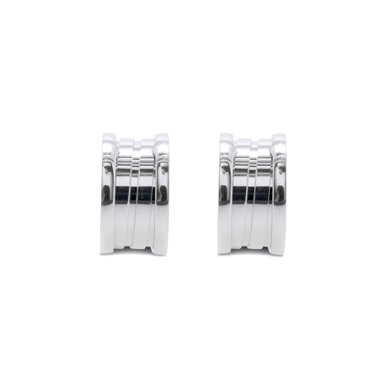 BVLGARI 18k White Gold B.Zero 1 Hoop Earrings Earrings Bulgari