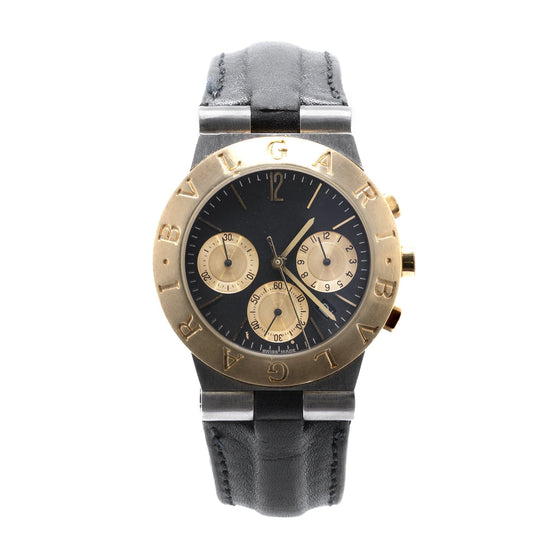 BVLGARI Two-Tone Diagono Chronograph Watch Watches Bulgari