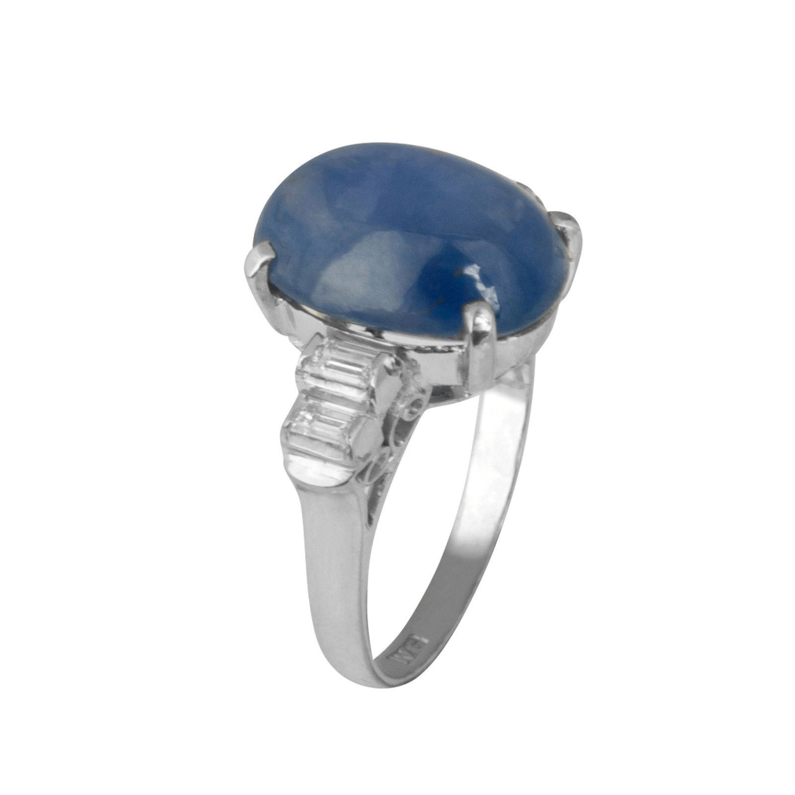 cocktail sapphire platinum diamond ceylon product ring and