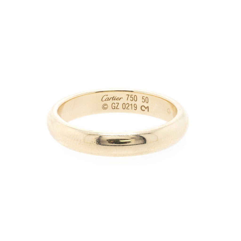 Cartier 18k Gold 1895 Wedding Band Ring Rings Cartier
