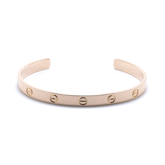 Cartier 18k Rose Gold Love Cuff Bracelet Bracelets Cartier